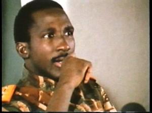 "image extraite du documentaire ""Thomas Sankara"" de Balufu Bakupa Kanyinda"