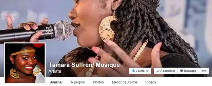 page Facebook de Tamara Suffren