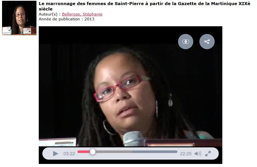 Le marronnage des femmes à St Pierre. http://www.manioc.org/ fichiers/V14277